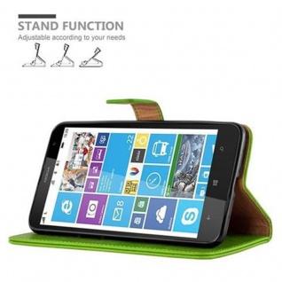Cadorabo Hülle für Nokia Lumia 1320 in GRAS GRÜN - Handyhülle mit Magnetverschluss, Standfunktion und Kartenfach - Case Cover Schutzhülle Etui Tasche Book Klapp Style - Vorschau 5