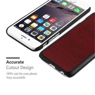 Cadorabo Hülle für Apple iPhone 6 / iPhone 6S in WOODY ROT ? Hardcase Handyhülle aus Plastik gegen Kratzer und Stöße ? Schutzhülle Bumper Ultra Slim Back Case Hard Cover - Vorschau 5