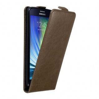 Cadorabo Hülle für Samsung Galaxy A7 2015 in KAFFEE BRAUN - Handyhülle im Flip Design mit unsichtbarem Magnetverschluss - Case Cover Schutzhülle Etui Tasche Book Klapp Style