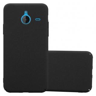 Cadorabo Hülle für Nokia Lumia 640 XL in FROSTY SCHWARZ - Hardcase Handyhülle aus Plastik gegen Kratzer und Stöße - Schutzhülle Bumper Ultra Slim Back Case Hard Cover