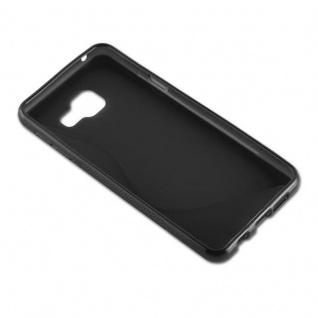 Cadorabo Hülle für Samsung Galaxy A3 2016 in OXID SCHWARZ ? Handyhülle aus flexiblem TPU Silikon ? Silikonhülle Schutzhülle Ultra Slim Soft Back Cover Case Bumper - Vorschau 3