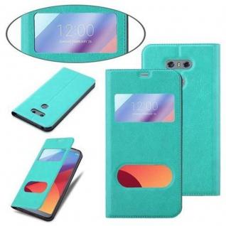 Cadorabo Hülle für LG G6 in MINT TÜRKIS ? Handyhülle mit Magnetverschluss, Standfunktion und 2 Sichtfenstern ? Case Cover Schutzhülle Etui Tasche Book Klapp Style - Vorschau 4