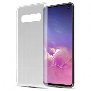 Cadorabo Hülle für Samsung Galaxy S10 in VOLL TRANSPARENT - Handyhülle aus flexiblem TPU Silikon - Silikonhülle Schutzhülle Ultra Slim Soft Back Cover Case Bumper