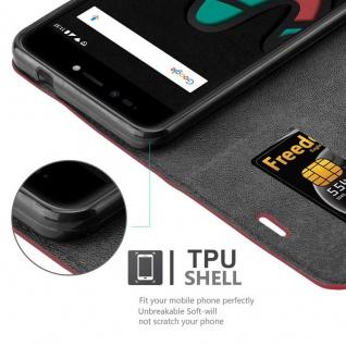 Cadorabo Hülle für WIKO UPULSE in APFEL ROT Handyhülle mit Magnetverschluss, Standfunktion und Kartenfach Case Cover Schutzhülle Etui Tasche Book Klapp Style - Vorschau 3
