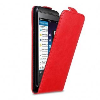 Cadorabo Hülle für Blackberry Z10 in APFEL ROT Handyhülle im Flip Design mit Magnetverschluss Case Cover Schutzhülle Etui Tasche Book Klapp Style
