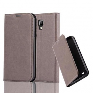 Cadorabo Hülle für Samsung Galaxy S4 ACTIVE in KAFFEE BRAUN - Handyhülle mit Magnetverschluss, Standfunktion und Kartenfach - Case Cover Schutzhülle Etui Tasche Book Klapp Style