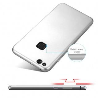 Cadorabo Hülle für Huawei P10 LITE in METALL SILBER - Hardcase Handyhülle aus Plastik gegen Kratzer und Stöße - Schutzhülle Bumper Ultra Slim Back Case Hard Cover - Vorschau 4