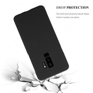 Cadorabo Hülle für Samsung Galaxy S9 PLUS in FROSTY SCHWARZ - Hardcase Handyhülle aus Plastik gegen Kratzer und Stöße - Schutzhülle Bumper Ultra Slim Back Case Hard Cover - Vorschau 4