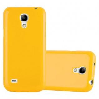 Cadorabo Hülle für Samsung Galaxy S4 MINI in JELLY GELB ? Handyhülle aus flexiblem TPU Silikon ? Silikonhülle Schutzhülle Ultra Slim Soft Back Cover Case Bumper