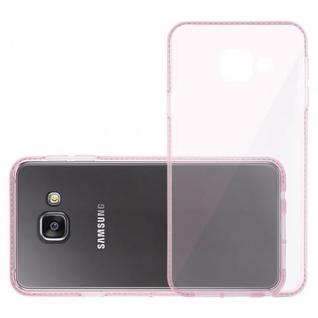 Cadorabo Hülle für Samsung Galaxy A3 2016 (6) - Hülle in TRANSPARENT ROSA - Handyhülle aus TPU Silikon im Strass Design - Silikonhülle Schutzhülle Ultra Slim Soft Back Cover Case Bumper - Vorschau 4