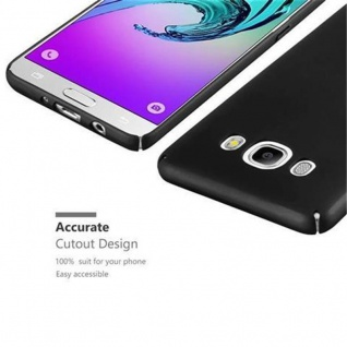 Cadorabo Hülle für Samsung Galaxy J5 2016 in METALL SCHWARZ - Hardcase Handyhülle aus Plastik gegen Kratzer und Stöße - Schutzhülle Bumper Ultra Slim Back Case Hard Cover - Vorschau 3