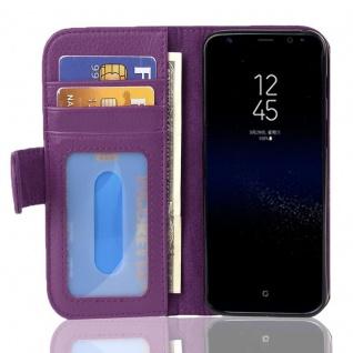 Cadorabo Hülle für Samsung Galaxy S8 PLUS in BORDEAUX LILA ? Handyhülle mit Magnetverschluss und 3 Kartenfächern ? Case Cover Schutzhülle Etui Tasche Book Klapp Style