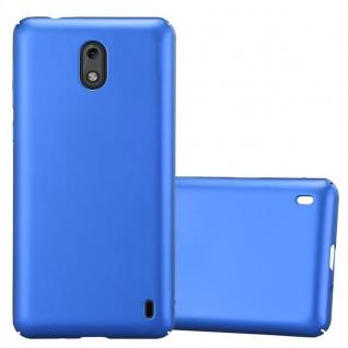 Cadorabo Hülle für Nokia 2 2017 in METALL BLAU - Hardcase Handyhülle aus Plastik gegen Kratzer und Stöße - Schutzhülle Bumper Ultra Slim Back Case Hard Cover