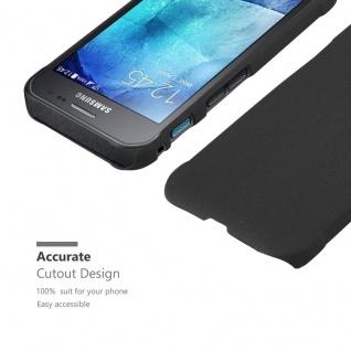Cadorabo Hülle für Samsung Galaxy XCover 3 in FROSTY SCHWARZ - Hardcase Handyhülle aus Plastik gegen Kratzer und Stöße - Schutzhülle Bumper Ultra Slim Back Case Hard Cover - Vorschau 5