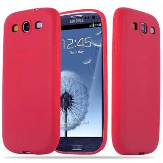 Cadorabo Hülle für Samsung Galaxy S3 / S3 NEO in CANDY ROT - Handyhülle aus flexiblem TPU Silikon - Silikonhülle Schutzhülle Ultra Slim Soft Back Cover Case Bumper