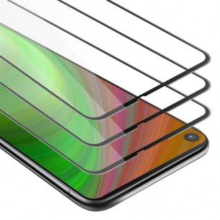 Cadorabo 3x Vollbild Panzer Folie für Samsung Galaxy A9 PRO 2019 - Schutzfolie in TRANSPARENT mit SCHWARZ - 3er Pack Gehärtetes (Tempered) Display-Schutzglas in 9H Härte mit 3D Touch