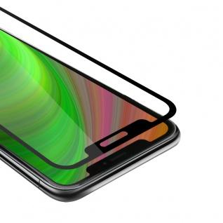 """Cadorabo Vollbild Panzer Folie für Apple iPhone 12 / iPhone 12 Pro (6, 1"""" Zoll) Schutzfolie in TRANSPARENT mit SCHWARZ Gehärtetes (Tempered) Display-Schutzglas in 9H Härte mit 3D Touch"""