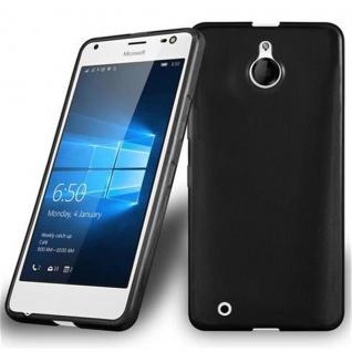 Cadorabo Hülle für Nokia Lumia 850 in SCHWARZ - Handyhülle aus flexiblem TPU Silikon - Silikonhülle Schutzhülle Ultra Slim Soft Back Cover Case Bumper