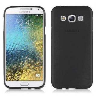 Cadorabo Hülle für Samsung Galaxy E5 2015 in SCHWARZ - Handyhülle aus flexiblem TPU Silikon - Silikonhülle Schutzhülle Ultra Slim Soft Back Cover Case Bumper