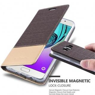 Cadorabo Hülle für Samsung Galaxy J5 2016 in ANTRAZIT GOLD - Handyhülle mit Magnetverschluss, Standfunktion und Kartenfach - Case Cover Schutzhülle Etui Tasche Book Klapp Style