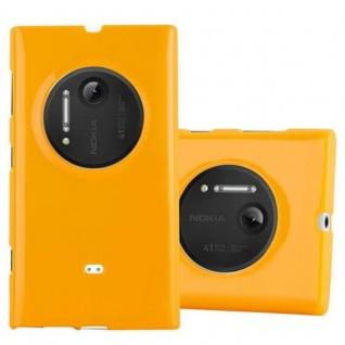 Cadorabo Hülle für Nokia Lumia 1020 in JELLY GELB - Handyhülle aus flexiblem TPU Silikon - Silikonhülle Schutzhülle Ultra Slim Soft Back Cover Case Bumper