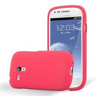 Cadorabo Hülle für Samsung Galaxy S3 MINI in FROST ROT - Handyhülle aus flexiblem TPU Silikon - Silikonhülle Schutzhülle Ultra Slim Soft Back Cover Case Bumper