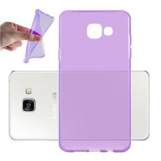Cadorabo Hülle für Samsung Galaxy A3 2016 (6) - Hülle in TRANSPARENT LILA ? Handyhülle aus TPU Silikon im Ultra Slim 'AIR' Design - Ultra Slim Soft Backcover Case Bumper
