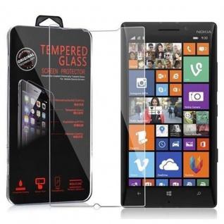 Cadorabo Panzer Folie für Nokia Lumia 929 / 930 - Schutzfolie in KRISTALL KLAR - Gehärtetes (Tempered) Display-Schutzglas in 9H Härte mit 3D Touch Kompatibilität