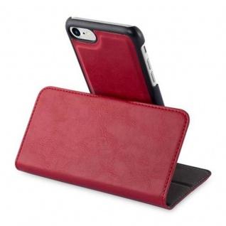 Cadorabo Hülle für Apple iPhone 7 / iPhone 7S / iPhone 8 - Hülle in GRANATAPFEL ROT ? Handyhülle im 2-in-1 Design mit Standfunktion und Kartenfach - Hard Case Book Etui Schutzhülle Tasche Cover - Vorschau 4