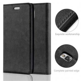 Cadorabo Hülle für Samsung Galaxy NOTE 3 in NACHT SCHWARZ - Handyhülle mit Magnetverschluss, Standfunktion und Kartenfach - Case Cover Schutzhülle Etui Tasche Book Klapp Style - Vorschau 2