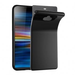 Cadorabo Hülle für Sony Xperia 10 in SCHWARZ - Handyhülle aus flexiblem TPU Silikon - Silikonhülle Schutzhülle Ultra Slim Soft Back Cover Case Bumper