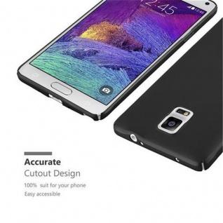 Cadorabo Hülle für Samsung Galaxy NOTE 4 in METALL SCHWARZ ? Hardcase Handyhülle aus Plastik gegen Kratzer und Stöße ? Schutzhülle Bumper Ultra Slim Back Case Hard Cover - Vorschau 5