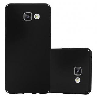 Cadorabo Hülle für Samsung Galaxy A5 2016 in METALL SCHWARZ - Hardcase Handyhülle aus Plastik gegen Kratzer und Stöße - Schutzhülle Bumper Ultra Slim Back Case Hard Cover