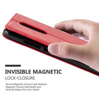 Cadorabo Hülle für WIKO VIEW in APFEL ROT Handyhülle mit Magnetverschluss, Standfunktion und Kartenfach Case Cover Schutzhülle Etui Tasche Book Klapp Style - Vorschau 5