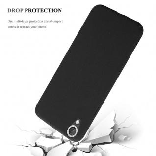 Cadorabo Hülle für HTC Desire 820 in FROSTY SCHWARZ - Hardcase Handyhülle aus Plastik gegen Kratzer und Stöße - Schutzhülle Bumper Ultra Slim Back Case Hard Cover - Vorschau 4