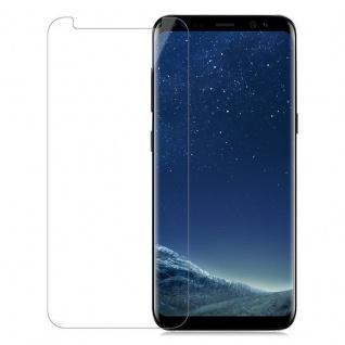 Cadorabo Panzer Folie für Samsung Galaxy S8 - Schutzfolie in KRISTALL KLAR - Gehärtetes (Tempered) Display-Schutzglas in 9H Härte mit 3D Touch Kompatibilität