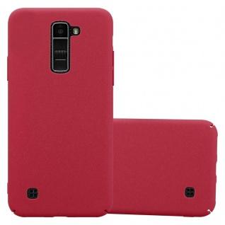 Cadorabo Hülle für LG K10 2016 in FROSTY ROT - Hardcase Handyhülle aus Plastik gegen Kratzer und Stöße - Schutzhülle Bumper Ultra Slim Back Case Hard Cover