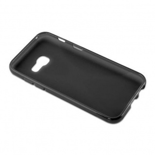 Cadorabo Hülle für Samsung Galaxy A3 2017 in OXID SCHWARZ - Handyhülle aus flexiblem TPU Silikon - Silikonhülle Schutzhülle Ultra Slim Soft Back Cover Case Bumper - Vorschau 5