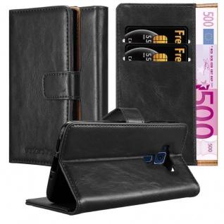 Cadorabo Hülle für Asus ZenFone 3 in GRAPHIT SCHWARZ Handyhülle mit Magnetverschluss, Standfunktion und Kartenfach Case Cover Schutzhülle Etui Tasche Book Klapp Style