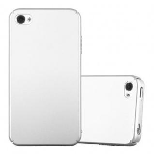 Cadorabo Hülle für Apple iPhone 4 / iPhone 4S in METALL SILBER - Hardcase Handyhülle aus Plastik gegen Kratzer und Stöße - Schutzhülle Bumper Ultra Slim Back Case Hard Cover