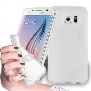 Cadorabo Hülle für Samsung Galaxy S6 in HALB TRANSPARENT ? Handyhülle aus flexiblem TPU Silikon ? Silikonhülle Schutzhülle Ultra Slim Soft Back Cover Case Bumper
