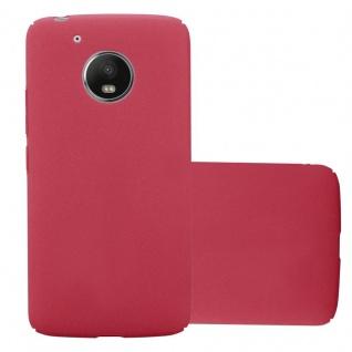 Cadorabo Hülle für Motorola MOTO G5 in FROSTY ROT Hardcase Handyhülle aus Plastik gegen Kratzer und Stöße Schutzhülle Bumper Ultra Slim Back Case Hard Cover