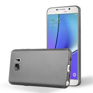 Cadorabo Hülle für Samsung Galaxy NOTE 5 in METALLIC GRAU - Handyhülle aus flexiblem TPU Silikon - Silikonhülle Schutzhülle Ultra Slim Soft Back Cover Case Bumper - Vorschau 1