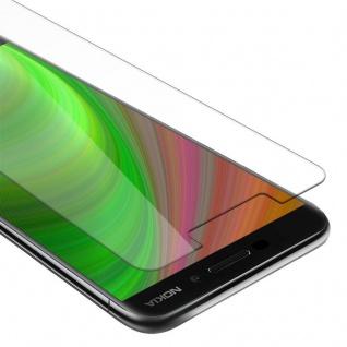 Cadorabo Panzer Folie für Nokia 6.1 2018 - Schutzfolie in KRISTALL KLAR - Gehärtetes (Tempered) Display-Schutzglas in 9H Härte mit 3D Touch Kompatibilität