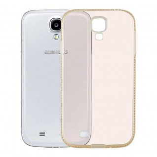 Cadorabo Hülle für Samsung Galaxy S4 - Hülle in TRANSPARENT GOLD ? Handyhülle aus TPU Silikon im Strass Design - Silikonhülle Schutzhülle Ultra Slim Soft Back Cover Case Bumper - Vorschau 3