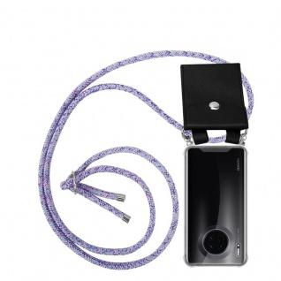 Cadorabo Handy Kette für Huawei MATE 30 in UNICORN - Silikon Necklace Umhänge Hülle mit Silber Ringen, Kordel Band Schnur und abnehmbarem Etui - Schutzhülle