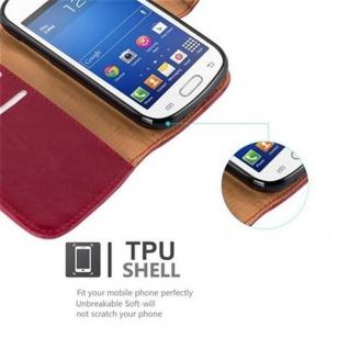 Cadorabo Hülle für Samsung Galaxy TREND LITE in WEIN ROT ? Handyhülle mit Magnetverschluss, Standfunktion und Kartenfach ? Case Cover Schutzhülle Etui Tasche Book Klapp Style - Vorschau 4