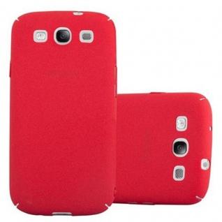 Cadorabo Hülle für Samsung Galaxy S3 / S3 NEO in FROSTY ROT Hardcase Handyhülle aus Plastik gegen Kratzer und Stöße Schutzhülle Bumper Ultra Slim Back Case Hard Cover