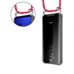 Cadorabo Handy Kette für Huawei MATE 20 LITE in PINK SCHWARZ WEISS GEPUNKTET - Silikon Necklace Umhänge Hülle mit Silber Ringen, Kordel Band Schnur und abnehmbarem Etui - Schutzhülle - Vorschau 5
