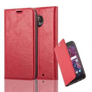 Cadorabo Hülle für Motorola MOTO X4 in APFEL ROT Handyhülle mit Magnetverschluss, Standfunktion und Kartenfach Case Cover Schutzhülle Etui Tasche Book Klapp Style